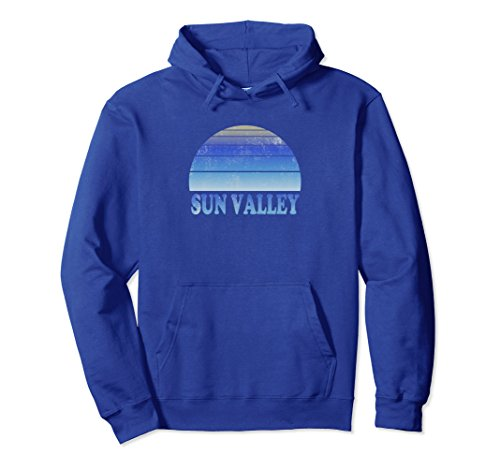 Unisex Sun Valley Hoodie Top Clothes Adult Teen Skiing Apparel Small Royal - Valley Sun Shop