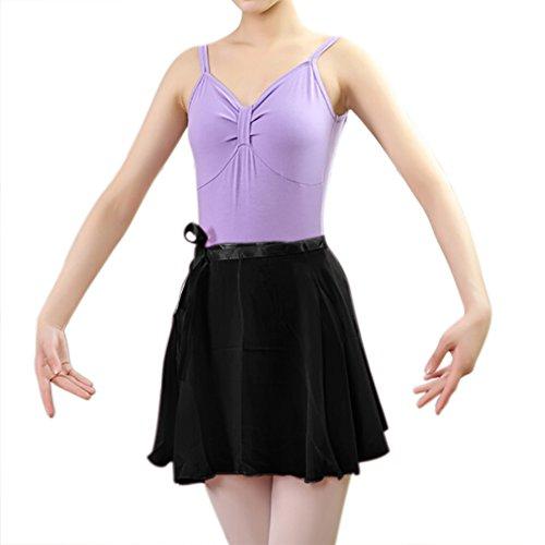 TiaoBug Women Adult Chiffon Sheer Wrap Skirt Ballet Skirt Ballet Dance Dancewear