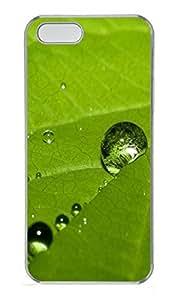 iPhone 5 5S Case Grass Dew Closeup 3296 PC Custom iPhone 5 5S Case Cover Transparent
