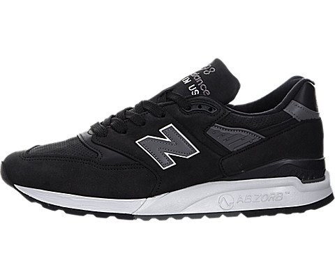 New Balance - Mens Made in the USA ML998DV1 Classics Shoes, Size: 8.5 D(M) US, Color: Black/Grey