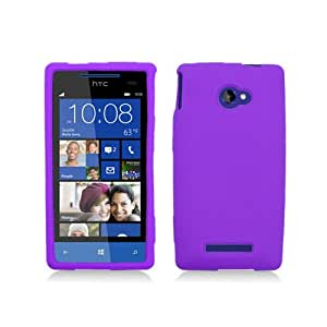 Purple Soft Silicone Gel Skin Cover Case for HTC Windows Phone 8X