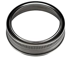 Stainless Steel Rust Resistant Bands / Rings for Mason, Ball, Canning Jars (5 Pack, Regular Mouth)
