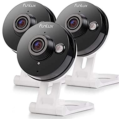 Funlux Wireless Two-Way Audio Home Security Camera (3 Pack) Smart HD WiFi IP Cameras with Night Vision