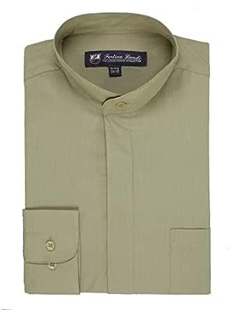 FORTINO LANDI - Camiseta de manga larga con cuello para hombre ...