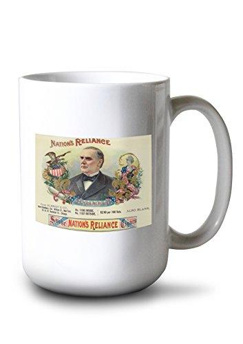 - Lantern Press Nation's Reliance Brand Cigar Box Label (15oz White Ceramic Mug)