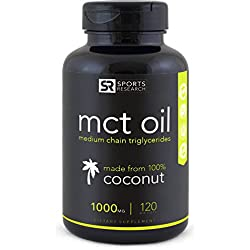 MCT Oil (Medium Chain Triglycerides) made from non-gmo coconuts - 120 softgels