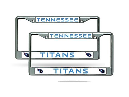 (Rico Tennessee Titans NFL Chrome Metal (2) License Plate Frame Set)
