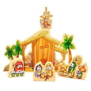 Veggie Tales Wooden Nativity Set (00516)