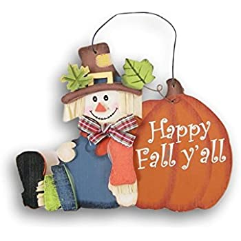 Wooden Miniature Happy Fall Yall Autumn Decor Sign - 6 x 4.5 Inches