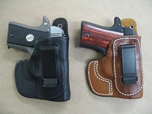 Azula IWB Leather in The Waistband Carry Holster for Smith & Wesson 686, 586, S&W Revolver TAN RH