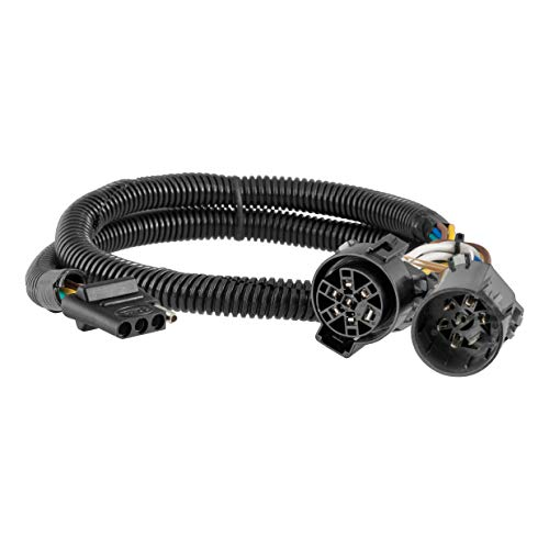 CURT 55384 Replacement Vehicle-Side Custom USCAR 4-Pin Trailer Wiring Harness (Wire Harness Silverado Chevy 2010)
