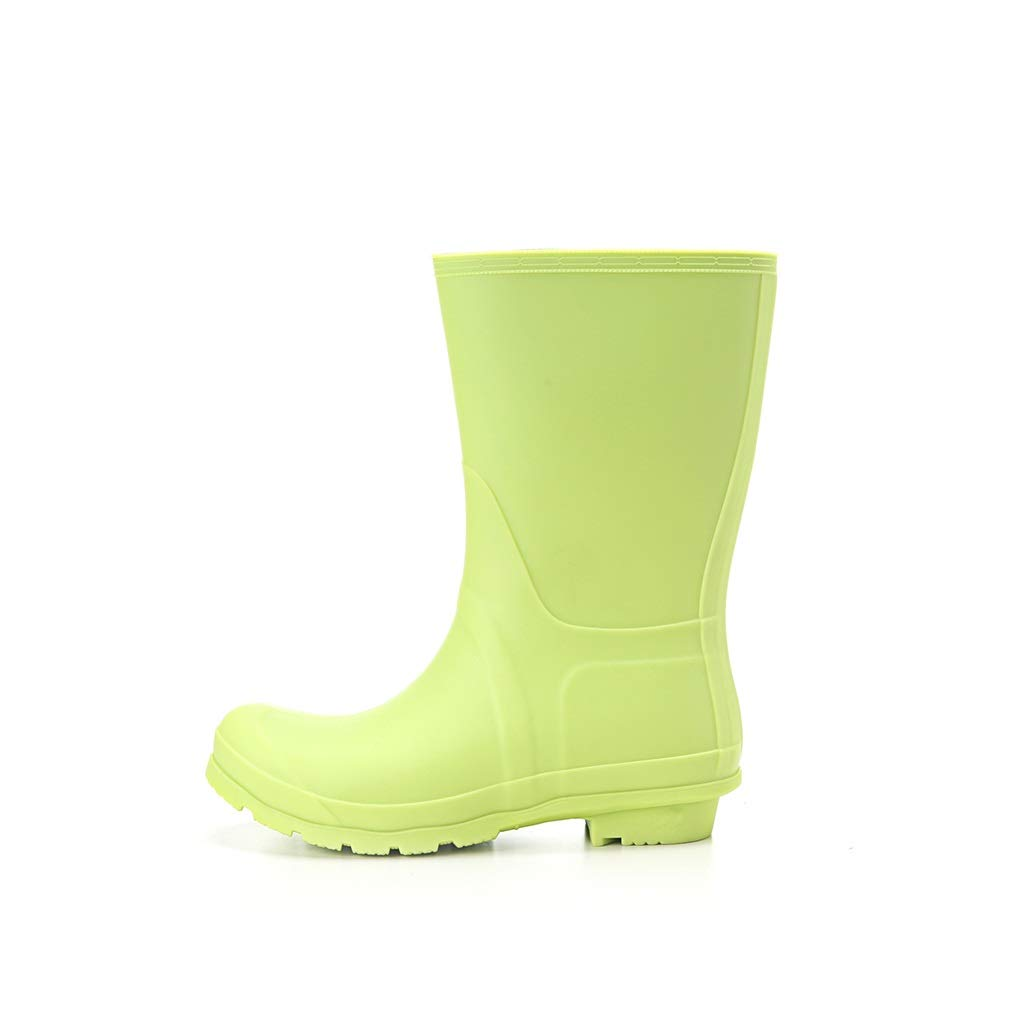 MLENR Regenstiefel Regenstiefel Regenstiefel für Damen Wasserdichte Regenstiefel für Damen Wasserfeste Schuhe für Kinder Anti-Rutsch-Gummischuhe (Farbe   Grün, größe   38)  c6543e