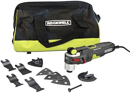 Rockwell AW400 Sonicrafter 4.2 Amp Oscillating Multi-Tool with 9 Accessories and Carry Bag
