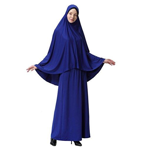 Piezas Hijab moichien Musulmanas Ai Mujeres Murci Dos Mangas Con Thobe HWBOF