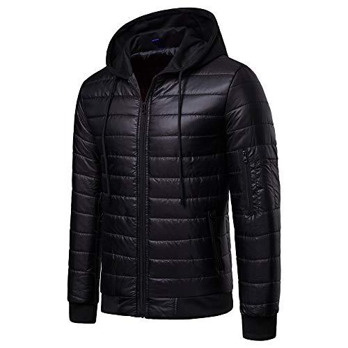 Chaud Noir Capuche Hivers Homme Veste Slim Fermeture Taille Éclair Manteau Grande Tonsi SWntxwPf1