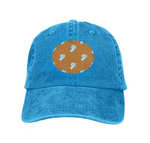 Unisex Summer Fashion Cotton Baseball Cap Adjustable Trucker Hats Sport Whistle Pattern Sport Whistle Pattern Repeat Orange co Blue -