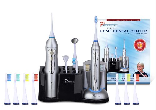 PURSONIC S620 DELUXE ACCUEIL DENTAL CENTER Brosse à dents sonique w / Oral Irrigator tout en un