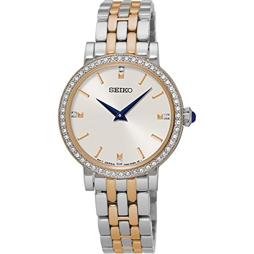 (Seiko Womens Analogue Quartz Watch with Stainless Steel Strap SFQ810P1)