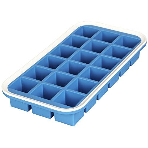Levivo Silikon Eiswürfelform für 18 Eiswürfel, 27 x 14 x 4 cm, Blau