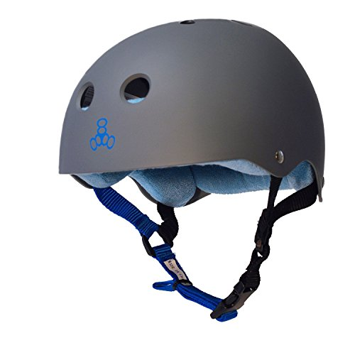 Triple 8 Sweatsaver Helmet-Carbon/Blue-Large from Triple Eight