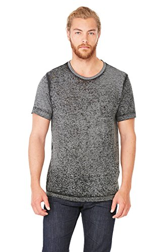 Bodek And Rhodes 50131713 3650 Bella Canvas Unisex Poly-Cotton Short-Sleeve Tee Black Acid Wash - Small from Bella