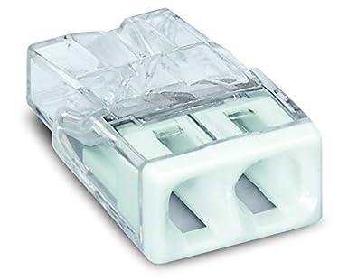 2-polig transparent//wei/ß 30 St/ück Wago 2273-202 COMPACT-Verbindungsdosenklemme /Ø 0,5-2,5 mm/²