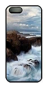 iPhone 5S Case Ocean Brushes PC Custom iPhone 5/5S Case Cover Black