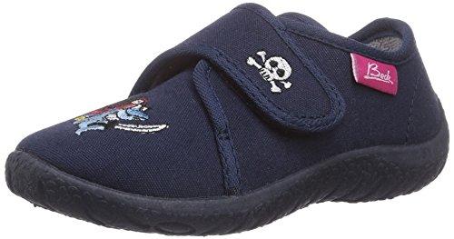 Beck Hai - pantuflas con forro de material sintético niño azul - Blau (dunkelblau 05)