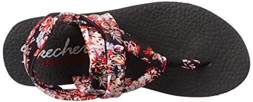 Mujer nbsp;Studio Meditation Black Floral Kicks Skechers Sandalias Ia74wIq