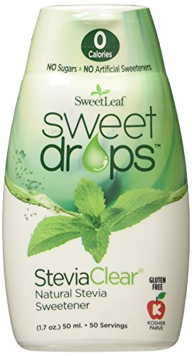 SweetLeaf Sweet Drops Liquid Stevia Sweetener, SteviaClear, 1.7 Ounce