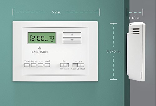 41WKVA7HBEL amazon com emerson p150 single stage 5 2 day programmable wiring diagram for a emerson up310 thermostat at eliteediting.co