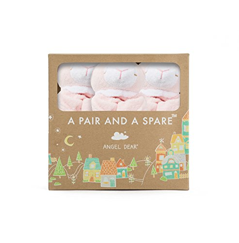 Angel Dear Pair and a Spare 3 Piece Blanket Set, Lamb