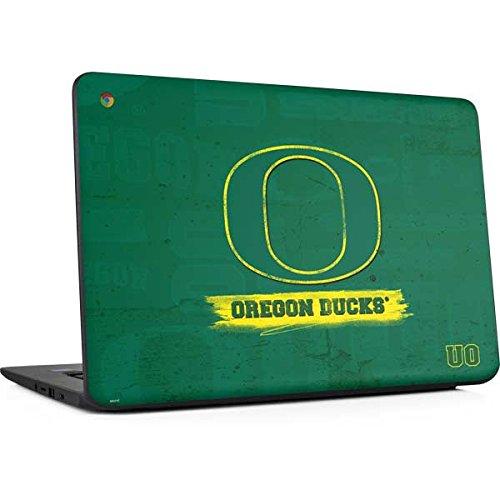 Skinit University of Oregon Chromebook 14 G5 Skin - Oregon Distressed Design - Ultra Thin, Lightweight Vinyl Decal Protection