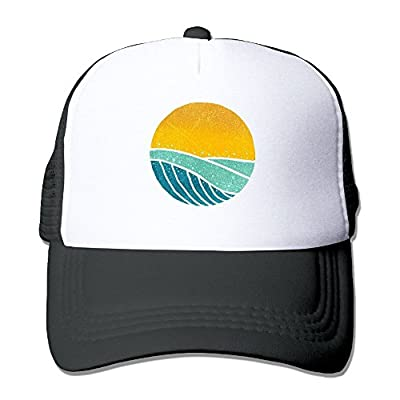 MarthaStill Vintage Sea Wave On Tides Mesh Mens Great Trucker Baseball Hat