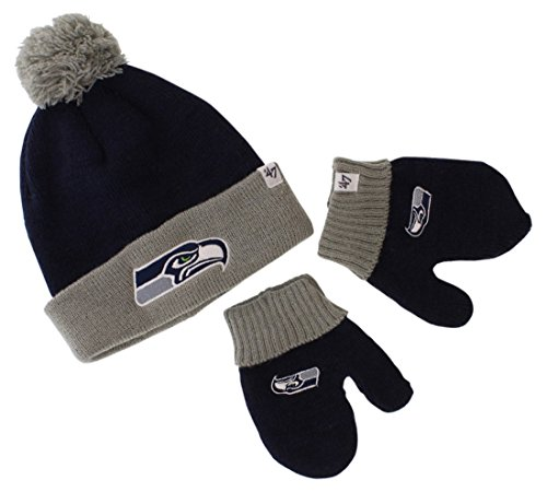 TODDLER FOOTBALL BEANIE AND MITTENS NEW!