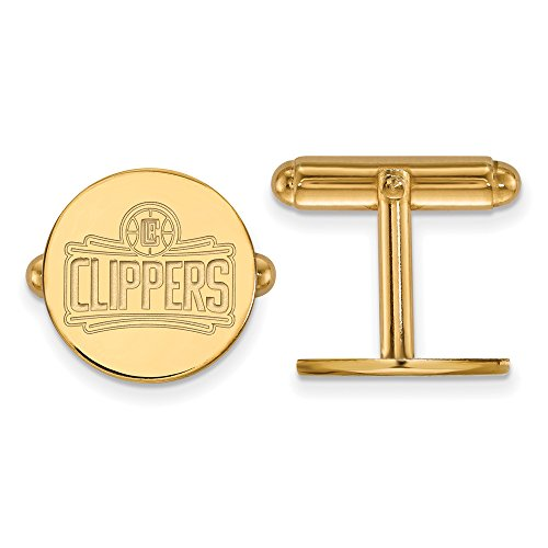 NBA Los Angeles Clippers Cuff Links in 14K Yellow Gold by LogoArt