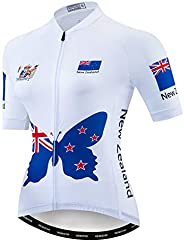 Cycling Jersey Women Short Sleeve Bike Biking Shirts Full Zip Bicycle Tops Cycling Clothes with 3 Pockets