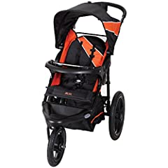 Get a workout with this XCEL jogger stroller from Baby Trend. The Xcel Jogging Stroller features large bicycle tires and a front swivel wheel that can be unlocked for low speed maneuvering or locked into place for jogging. Stroller also can a...