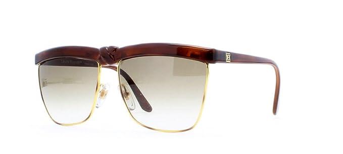 cb9e224f36 Laura Biagiotti P35 49R Gold and Red Authentic Women Vintage Sunglasses
