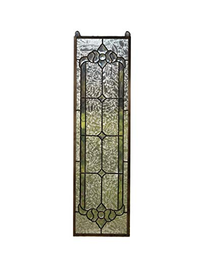 """TMI 10"""" x 36"""" Stunning Tiffany Style Stained Glass Clear Beveled Window Panel"""