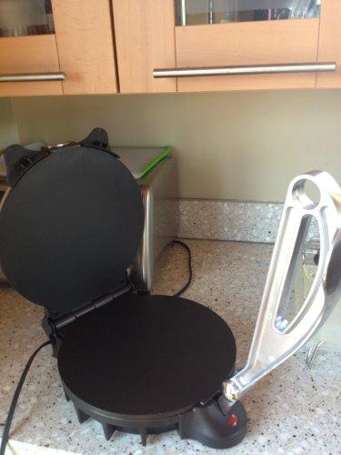 Electric Tortilla Maker- Homemade Flatbread, Pitas, Tortillas- Heavy Duty, Non-stick Cooker Easier than Tortilla Press