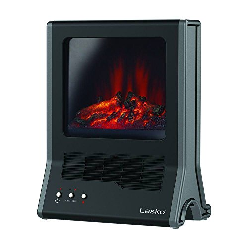 Lasko CA20100 Ultra Ceramic Fireplace Heater, Black Ceramic Heaters