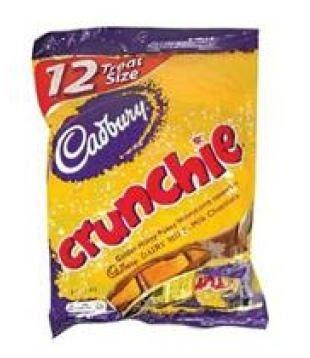 Cadbury Crunchie Bar Treat Size - 12pk (Crunchy Candy Bar)