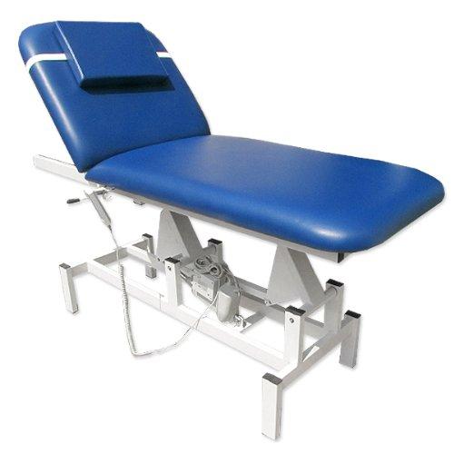 11938 Elektrische Therapieliege Ruheraumliege Massageliege Behandlungsliege in blau