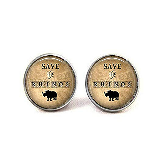 (hars ave The Rhinos Earrings,Bible Quote Pendant - Christian Insect Art Earrings,Earrings,Unique Earrings Customized Gift,Everyday Gift Earrings)