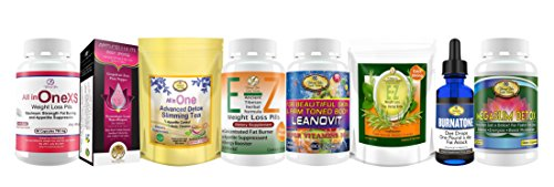 Weight Loss Package- All in One Diet pills, Anti cellulite sponge.All in One Detox Diet Tea. E-Z Weight Loss Pills. Women Multivits.E-Z Teatox.Burnatone Diet Drops. Megaslim Body Detox pills.Save $50 by YoungYou International
