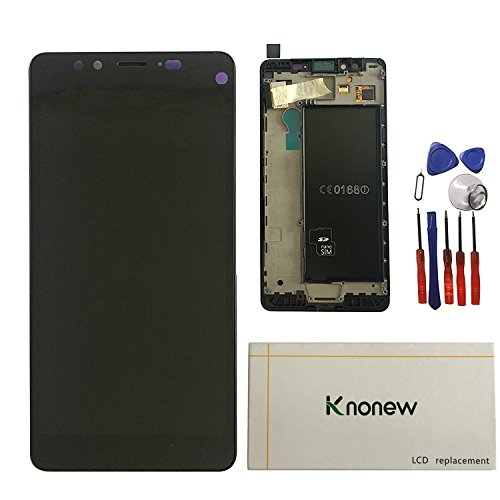 KNONEW LCD With Touch Display Screen Digitizer Assembly Replacement+Frame For Nokia Microsoft Lumia 950 LCD (Black) by KNONEW