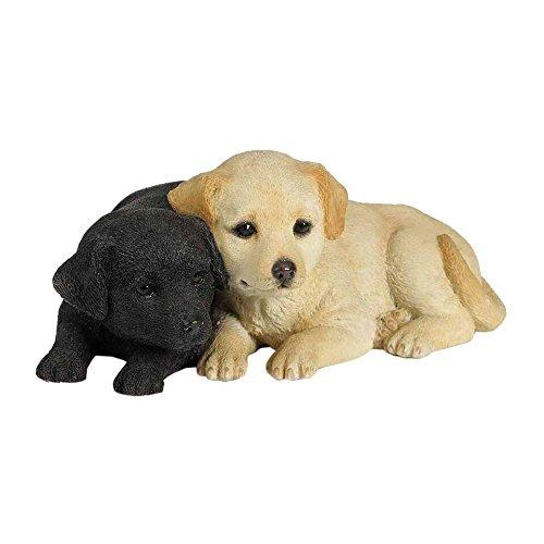 Puppies Decorative 2.36 inch Animal Statue, Black White ()