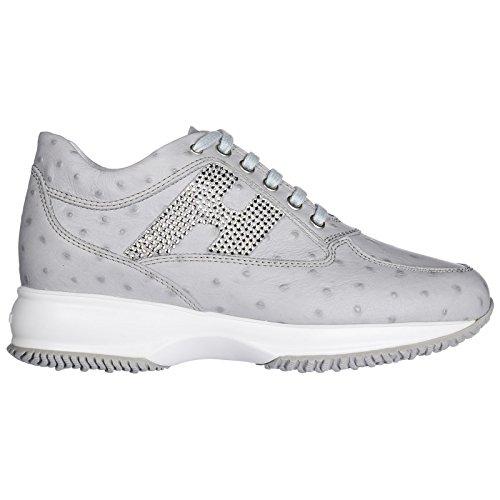 Cuir Femme Baskets en Sneakers Gris Chaussures Interactive Hogan a6g7q8OSy