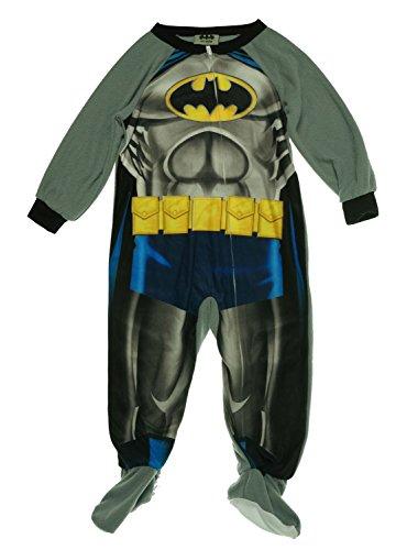 Toddler Boys' One-Piece Footed Batman Blanket Sleeper Pajamas (2T)